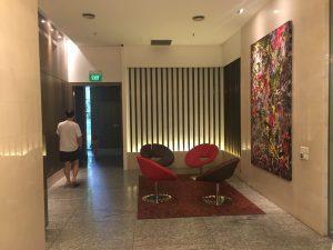 シンガポールairbnb待合室